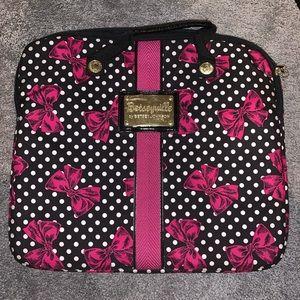 Betseyville Pink Bow Laptop Bag
